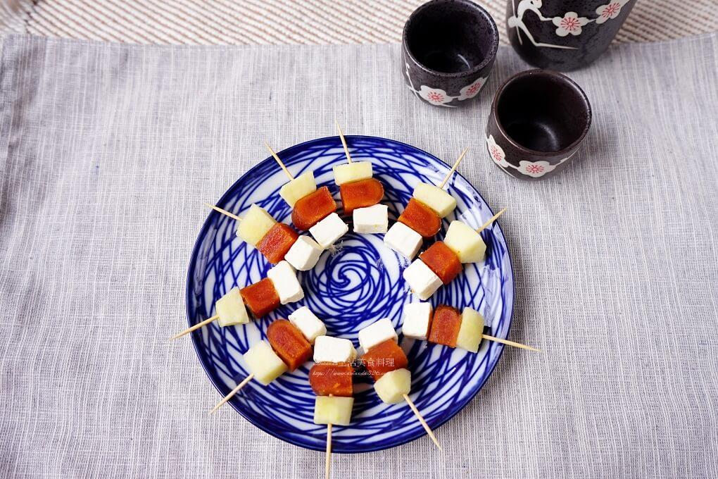 下酒菜,奶油乳酪,年菜,水果入菜,烏魚子,茶點,蘋果