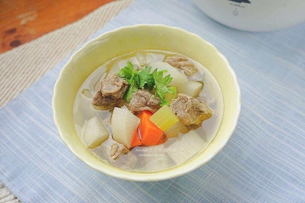 煲湯,燉鍋料理,牛肉湯,蘿蔔湯,電燉鍋