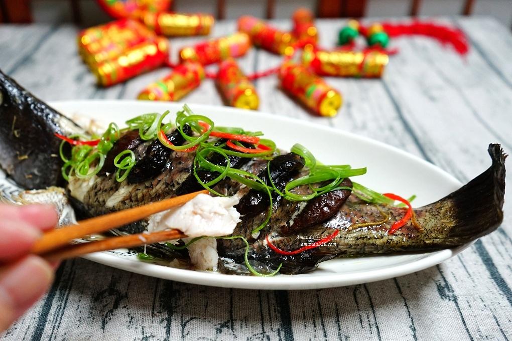 年菜,氣炸鍋,氣炸鍋料理,氣炸鍋食譜,燜烤,燜烤鱸魚,燜蒸鱸魚,魚料理