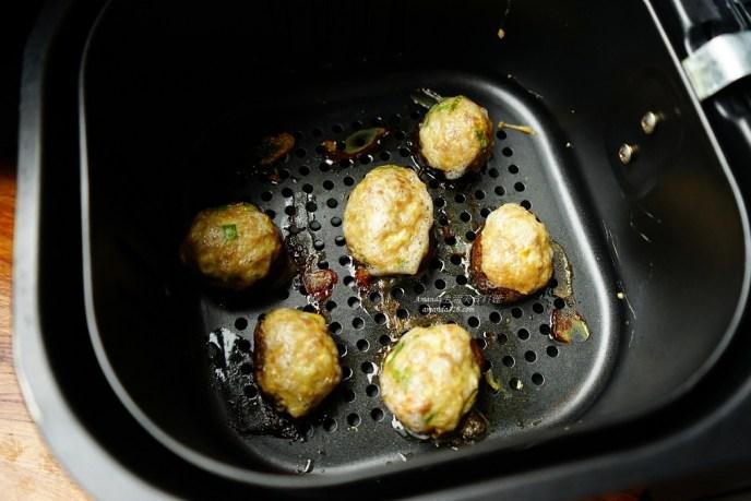 氣炸料理,氣炸食譜,絞肉料理,菌菇鑲肉,豬絞肉,豬肉,香菇鑲肉