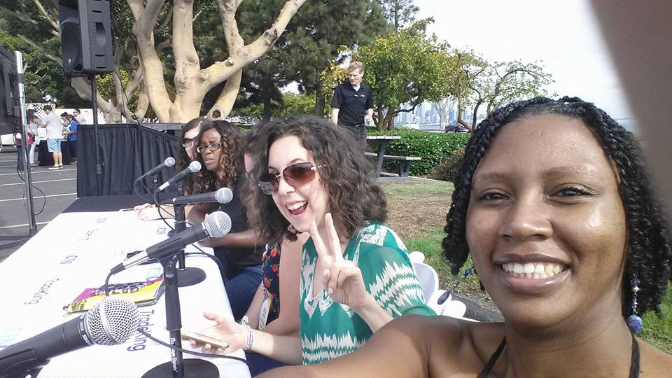 Live podcasting with my VA Lynette Davis, Jessica Garbarino, Michelle Jackson and Kate Dore.