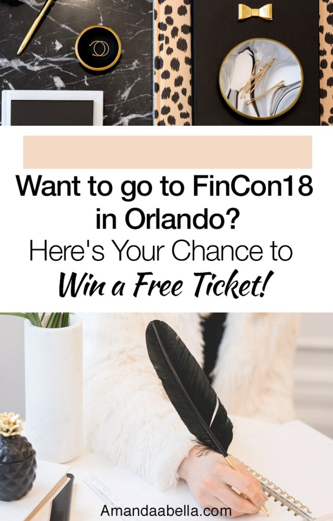 I'm giving away an extra ticket to FinCon18 in Orlando!