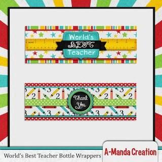 Teacher Appreciation Printable Gift Ideas Bottle Wrappers