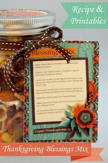 Thanksgiving Blessings Mix! Recipe, Printables and a Freebie!