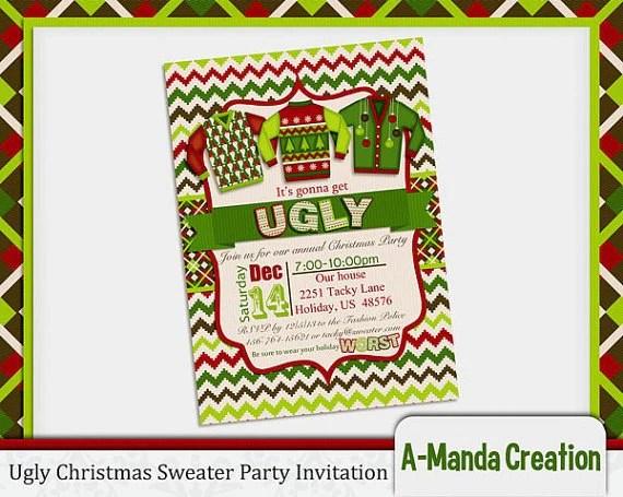 Ugly Christmas Sweater Printables