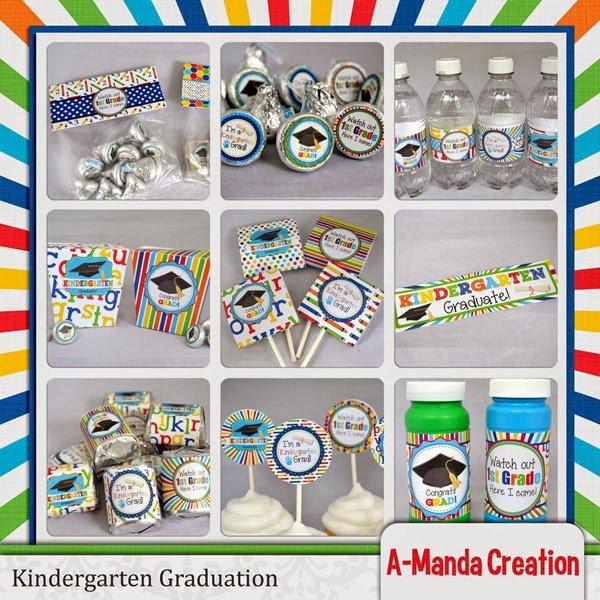 Kindergarten Graduation Party Printables and a Freebie!