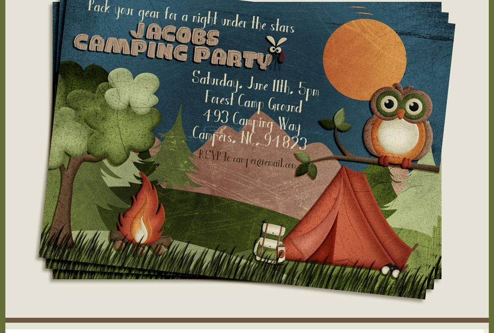 Camping Invitation and Bundle