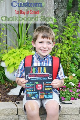 First Day of School Photo Ideas and a free 1st day of school printable sign