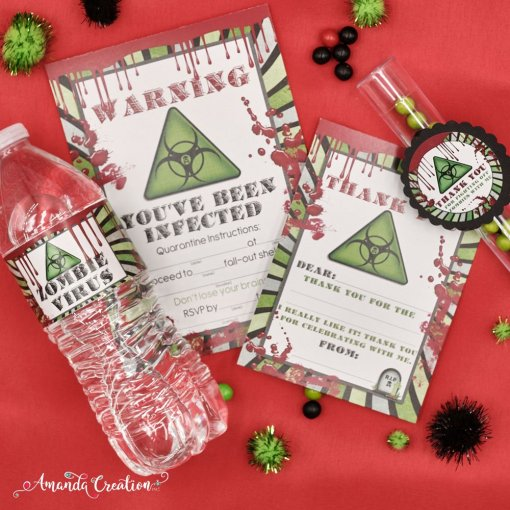 zombie water bottle labels