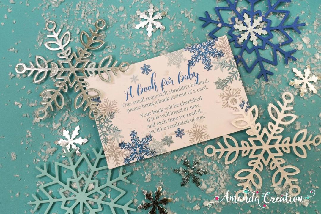 baby shower book card