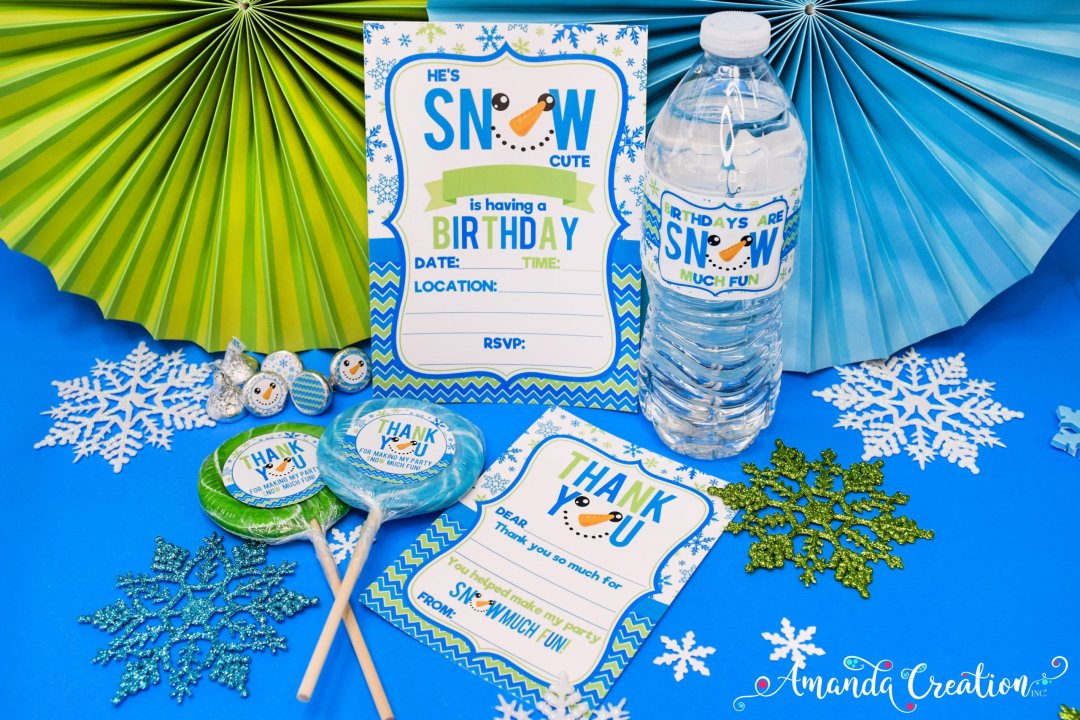 snowman boy birthday party supplies