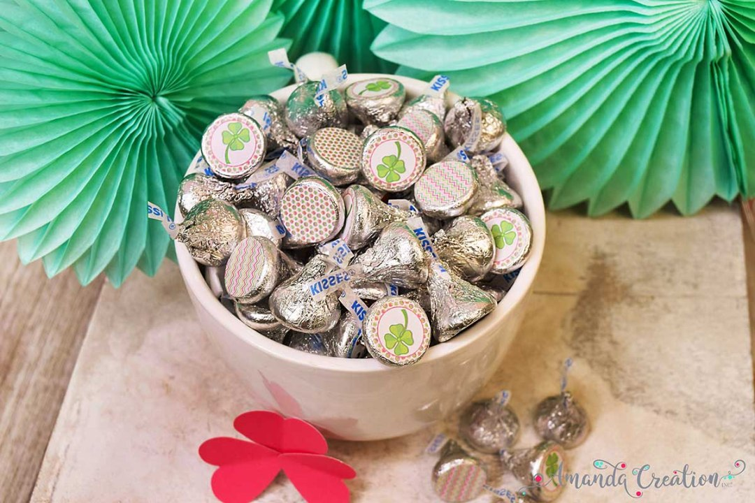 St. Patrick's Day Hershey Kiss Stickers