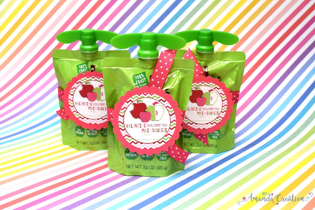 Valentine's Day Sticker for Fruit Squeeze
