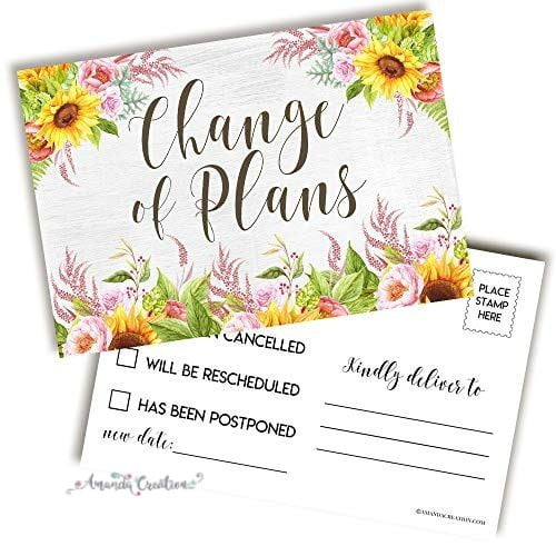 Floral Change of Plans Postcard