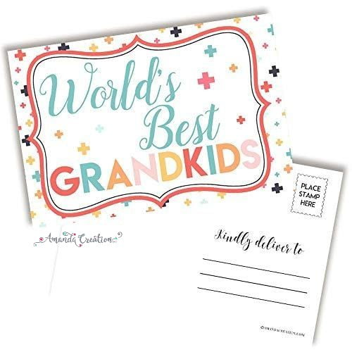 World's Best Grandkids Postcard