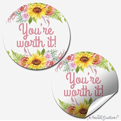 You're Worth It Customer Appreciation Sticker