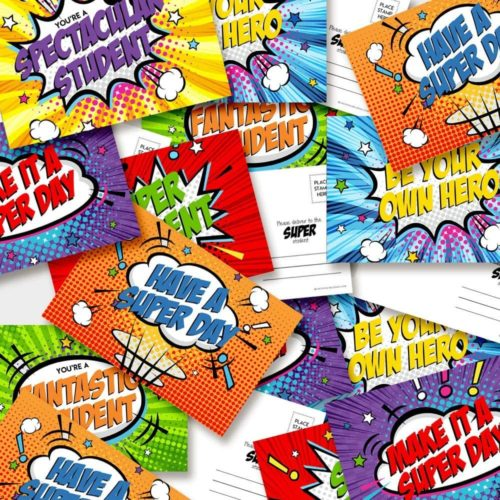 Save the Day With Superhero Student Postcards