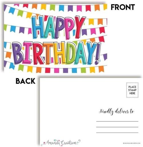 Happy Birthday Postcard