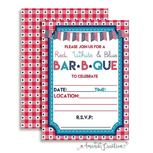 Patriotic BBQ Invitation