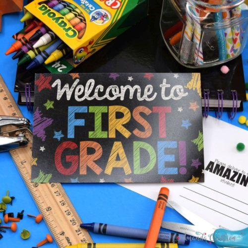 First Grade Back to School Postcards