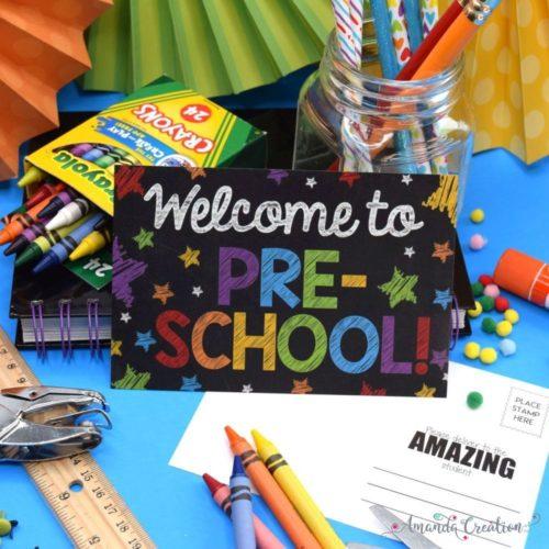 Back to School Postcards for Preschool