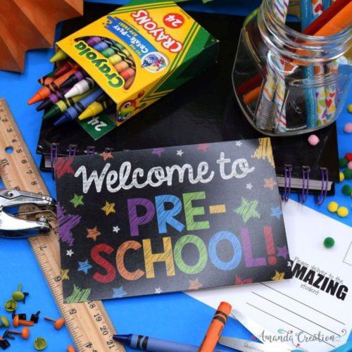 Preschool Back to School Postcards