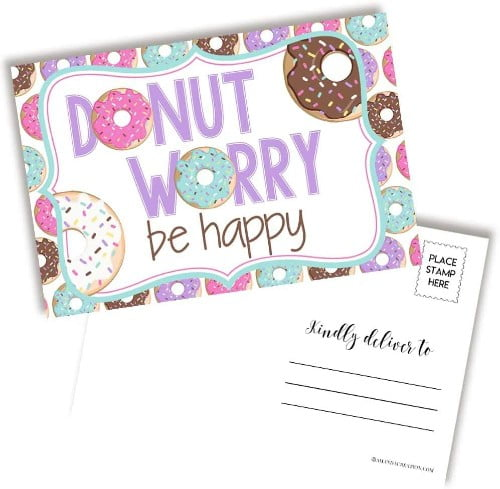 Donut Worry Be Happy Postcards