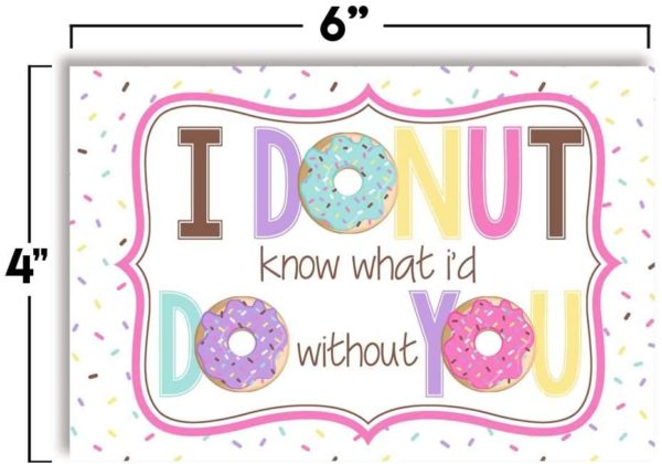 Donut Positive Thinking Postcards