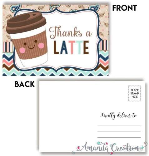 Thanks a Latte Postcard