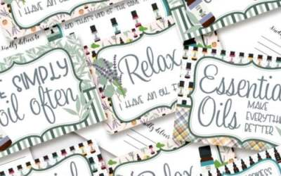 Essential Oils Postcards Send Soothing Messages