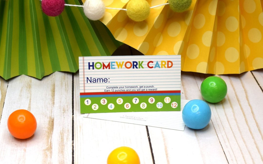 Reward Punch Cards Motivate Kids to Learn