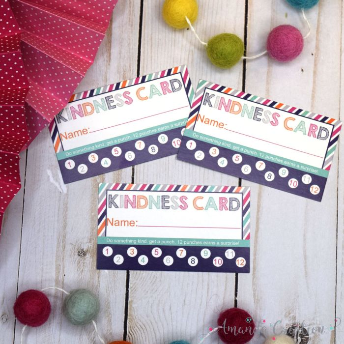 Kindness Reward Punch Cards