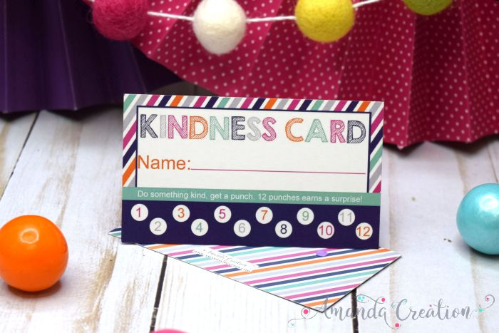 Kindness Reward Punch Cards Create Caring Kids