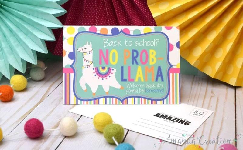 Llama Teacher Postcards