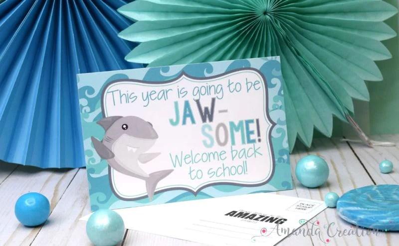 Shark Teacher Postcards