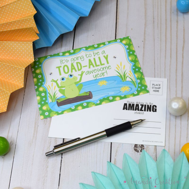 Toad Back To School Postcards For Teachers