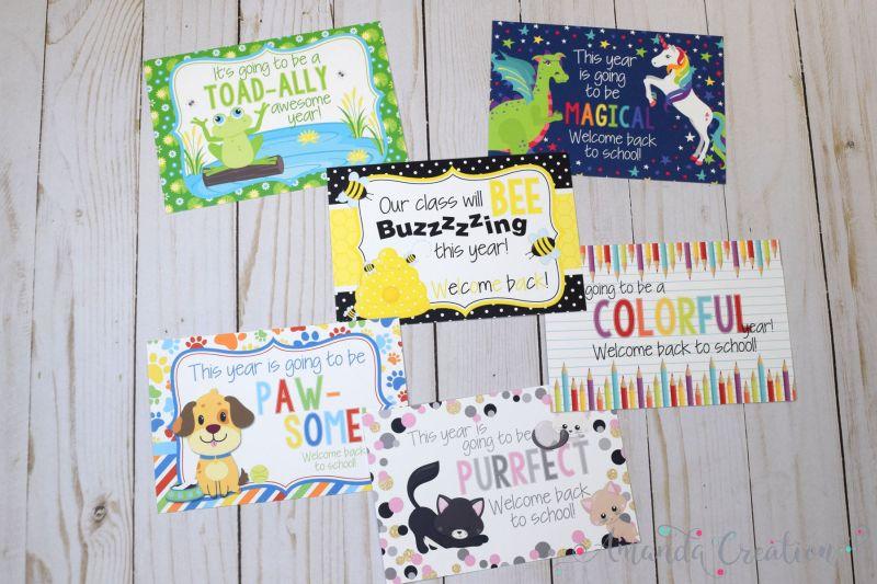 Inspiring Welcome Back Teacher Postcards