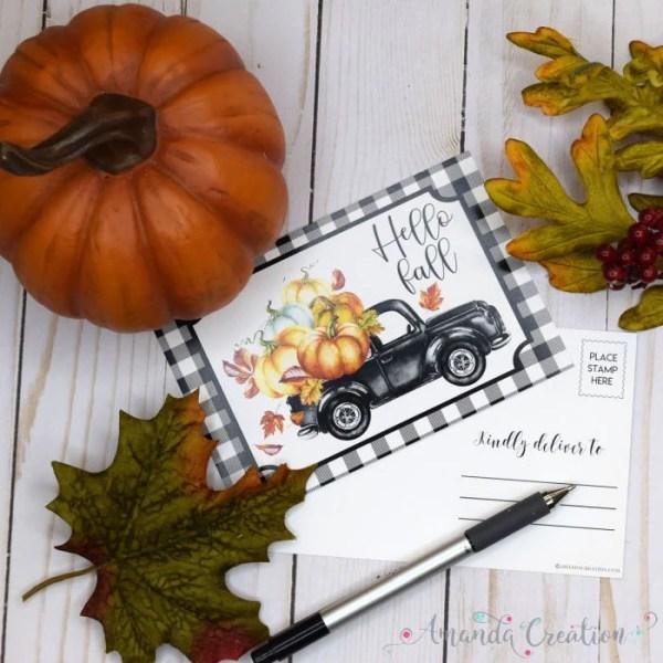 Hello Fall Postcards