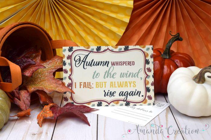 Inspirational Autumn Postcards Send Fall Beauty