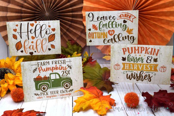 Rustic Fall Postcards