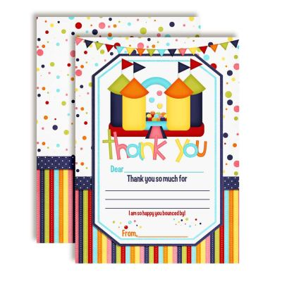 Bounce House Thank You Cards