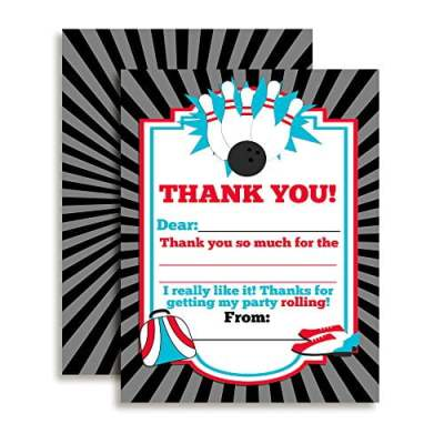 Bowling Party Thank You Cards