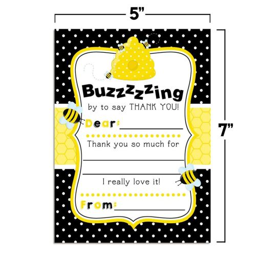 Bumble Bee Thank You Cards