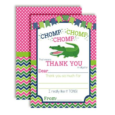 Alligator Thank You Cards (Girl)