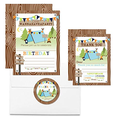 Camping Thank You Cards (Boy)