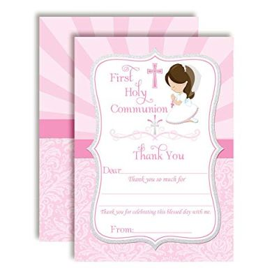 Communion Thank You Cards (Girl)