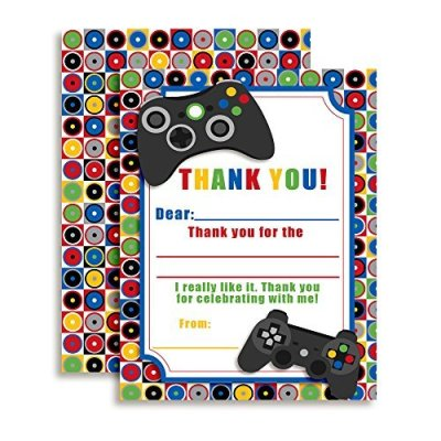 Video Gamer Thank you Cards