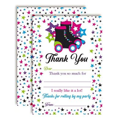 Star Roller Skating Thank You Cards