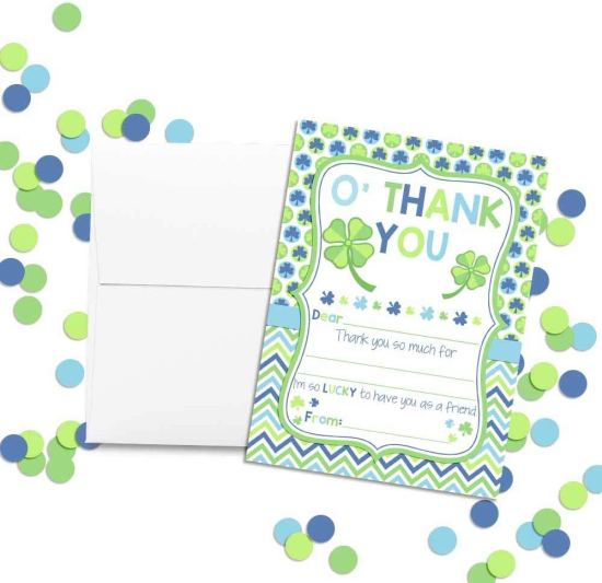 St. Patrick's Day Thank You Cards