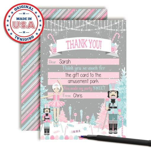 nutcracker land of sweets thank you cards